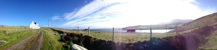 My new home overlooking Kilmaluag Bay