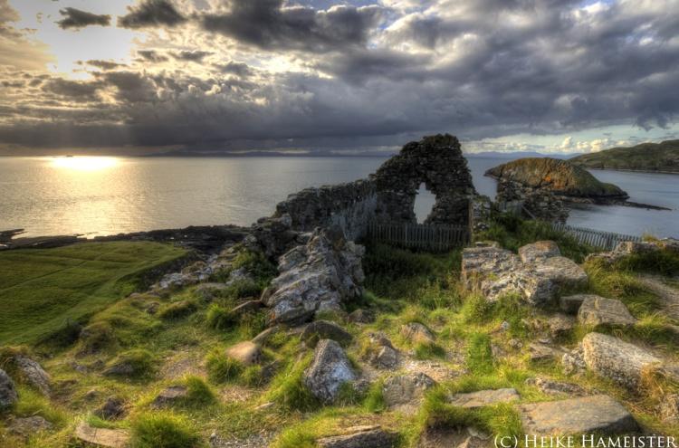 Duntulm Castle, Northern Skye by Heike Hameister