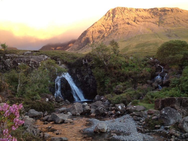 Skye Fairy Pools at sunset (no colour editing!)