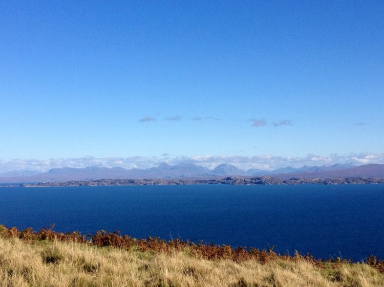 Looking over towards the mainland from the cliff road