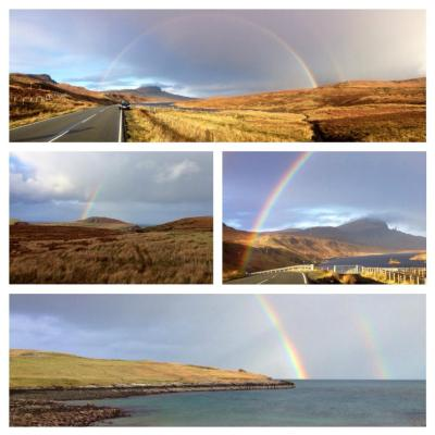 A day full of rainbows. An everyday sight on Skye.
