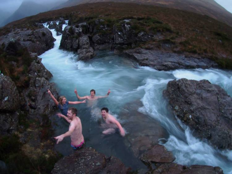 A wee dip (and yes, it was definitely as cold as it looks!)
