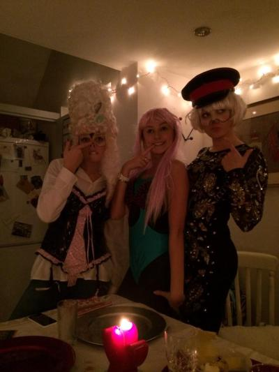 A little bit of dressing up with my half-sisters. What an elegant trio...!