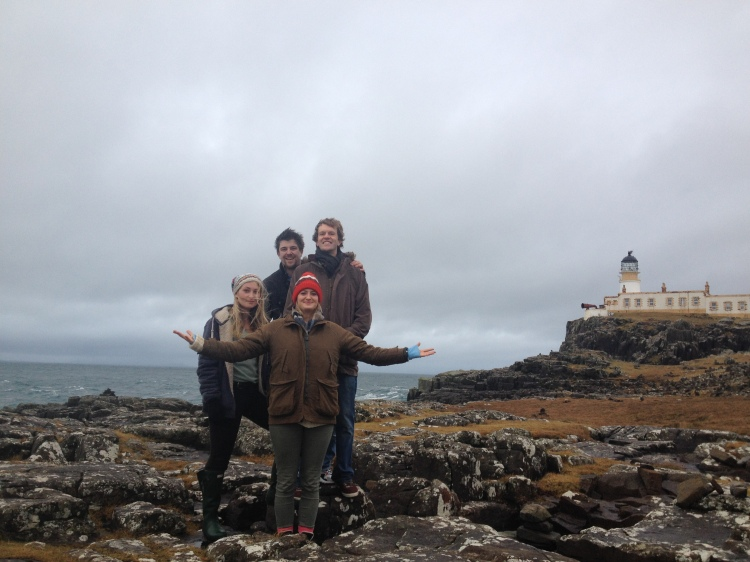 Braving the elements with Jack, Ed and Livvy