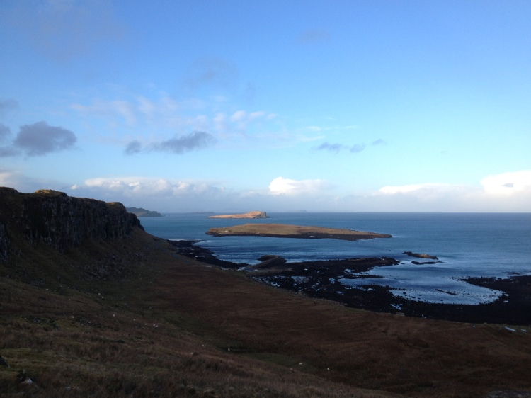 Crisp blue skies looking out towards Staffin Island