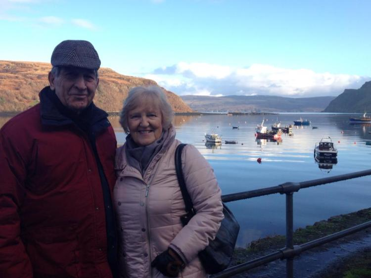 My grandparents at Portree harbour