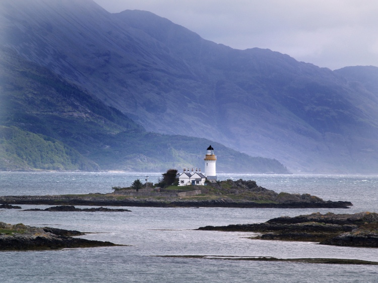 Oronsay Lighthouse, one of the ones to be looked after. Photo by Finlay Oman.