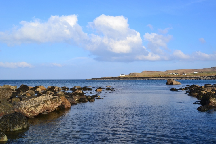 Kilmaluag Bay in the sunshine yesterday. After 6 months of winter I can't miss out on the sunshine!