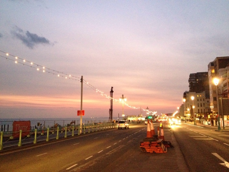 A beautiful Brighton sunset after the first day of Whalefest