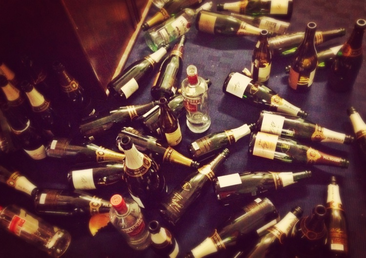 Champagne aftermath (and this was only the pre-party!)