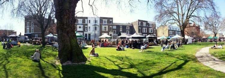 Oval farmers' market, South London