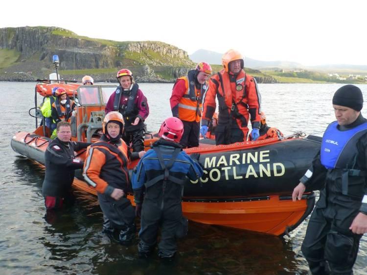 Being ferried back to Staffin Slipway by Marine Scotland. Photo by Adam Williams