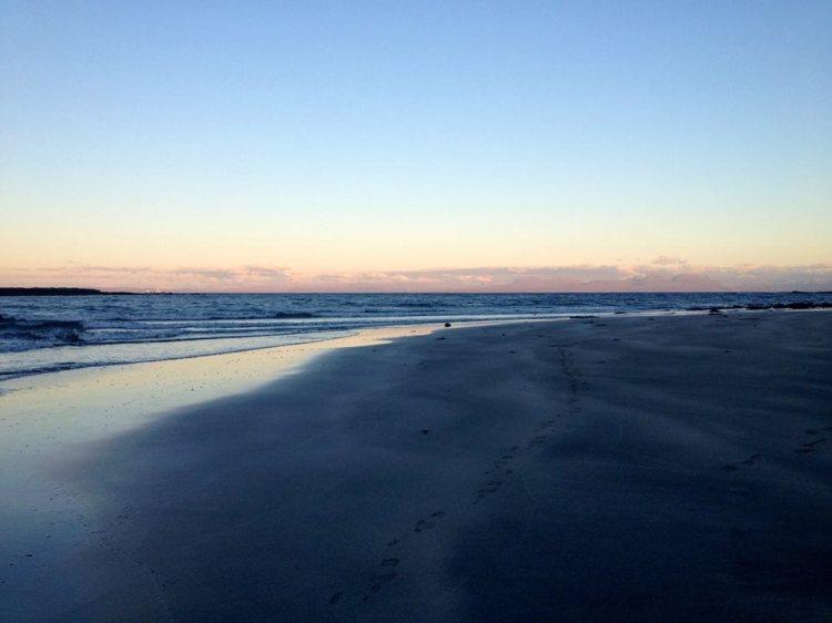 Staffin beach at sunset