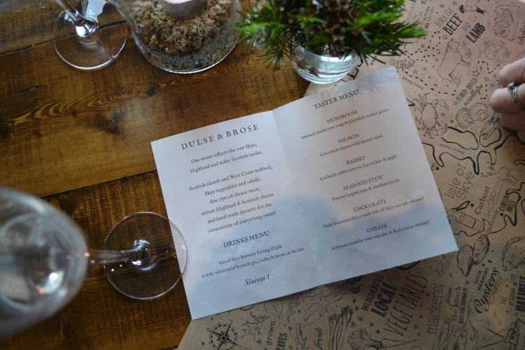 The taster menu