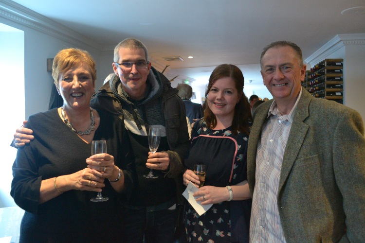 Paul and Mags from the Oyster Shed with Karen and Colin from Lochshore House