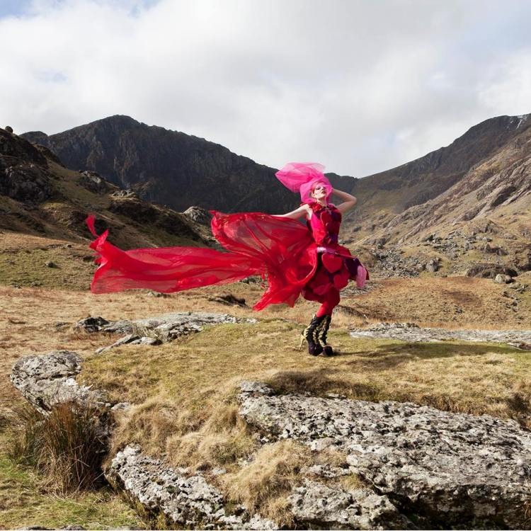 Sophie photographed by Anthony in the Welsh mountains as part of their collaborative project (Photo by Anthony Lycett Photography, www.anthonylycett.com)