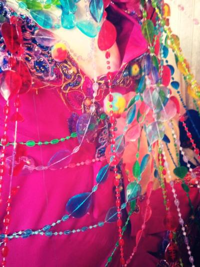 A detail of one of Sophie's creations. How can you not be happy when waking up to colours like these?!