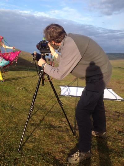 Anthony shooting Sophie on location in the Quiraing. To see the actual picture you need to visit Anthony's website!
